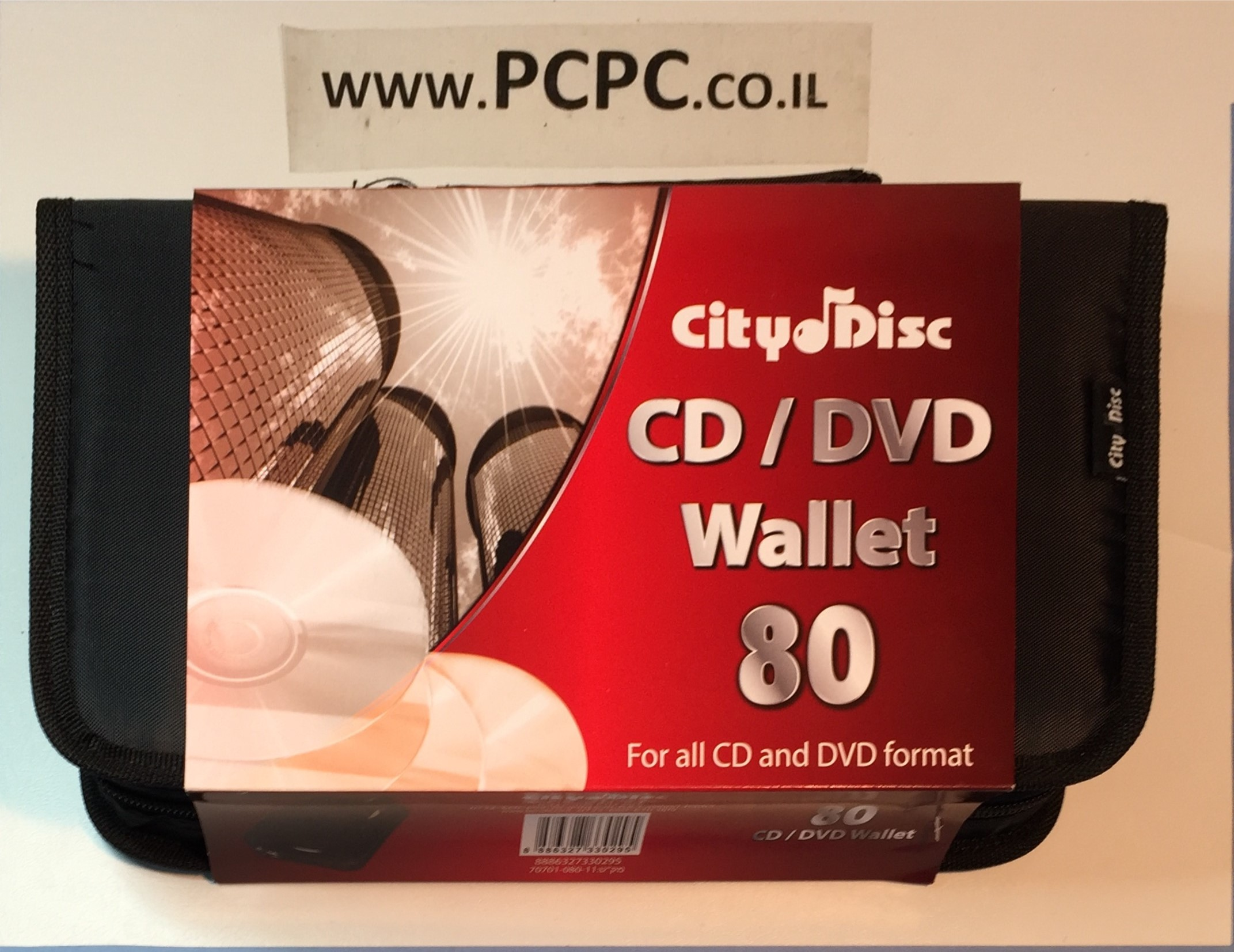 תיק ל-80 דיסקים CITY DISC SILVER LINE