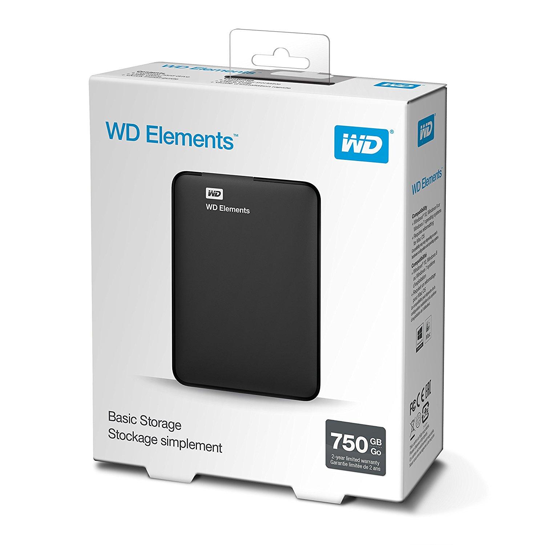 דיסק קשיח חיצוני 2.5 WESERN  DIGITAL  MY  ELEMENTS  750