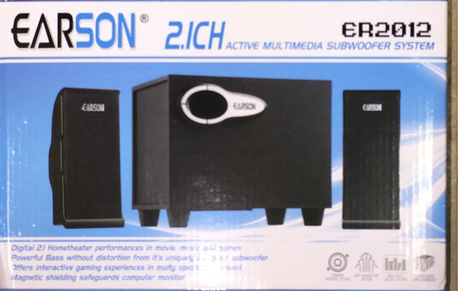 רמקולים למחשב  EARON SD\USB  2.1  ER2012-W