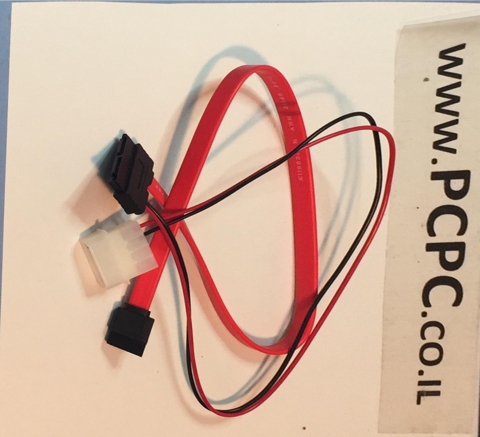כבל SATA-SATA MICRO משולב מתח+דאטה 0.4 מטר