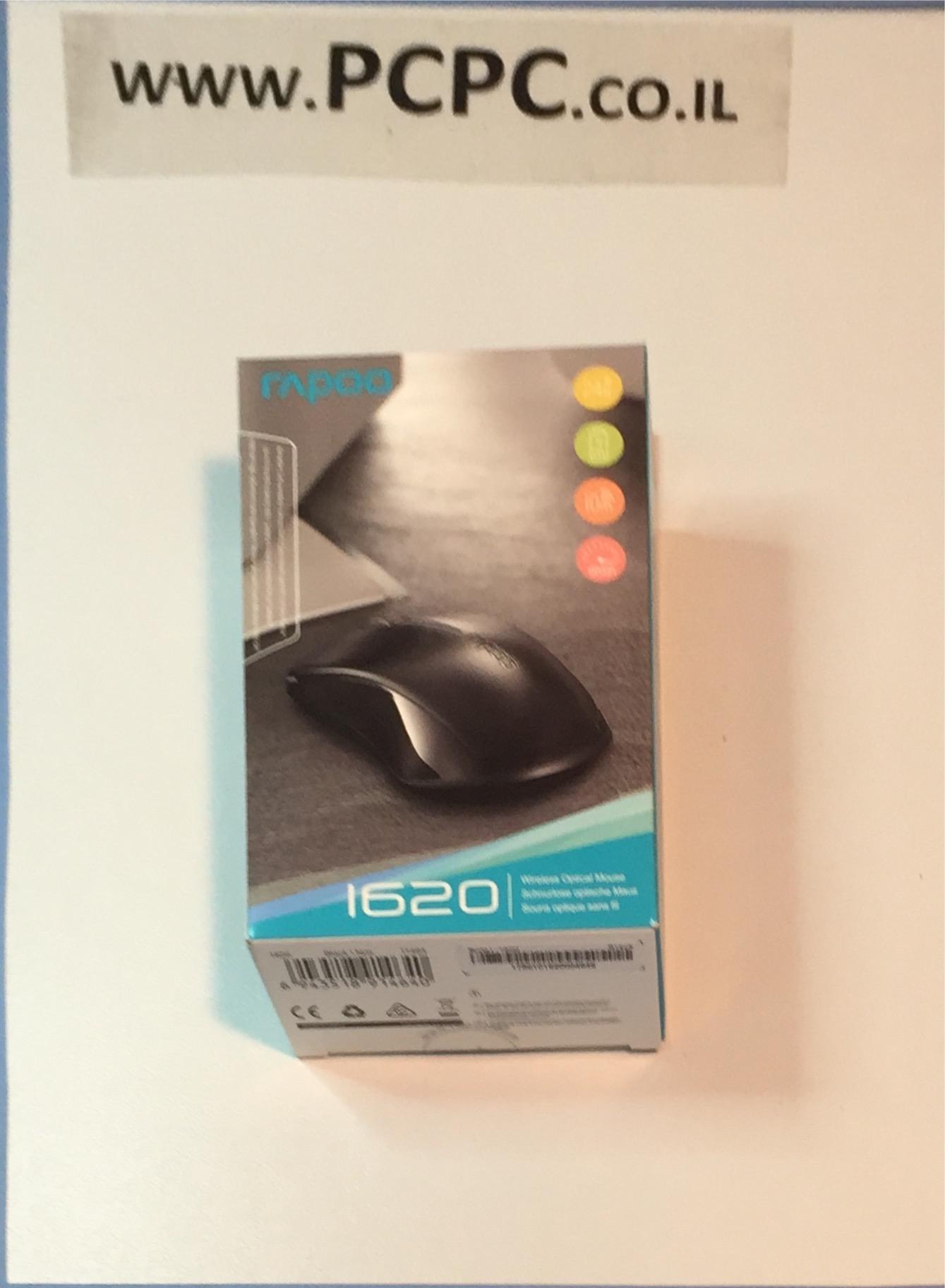 עכבר  אופטי  אלחוטי  RAPOO  1620  2.4G  שחור