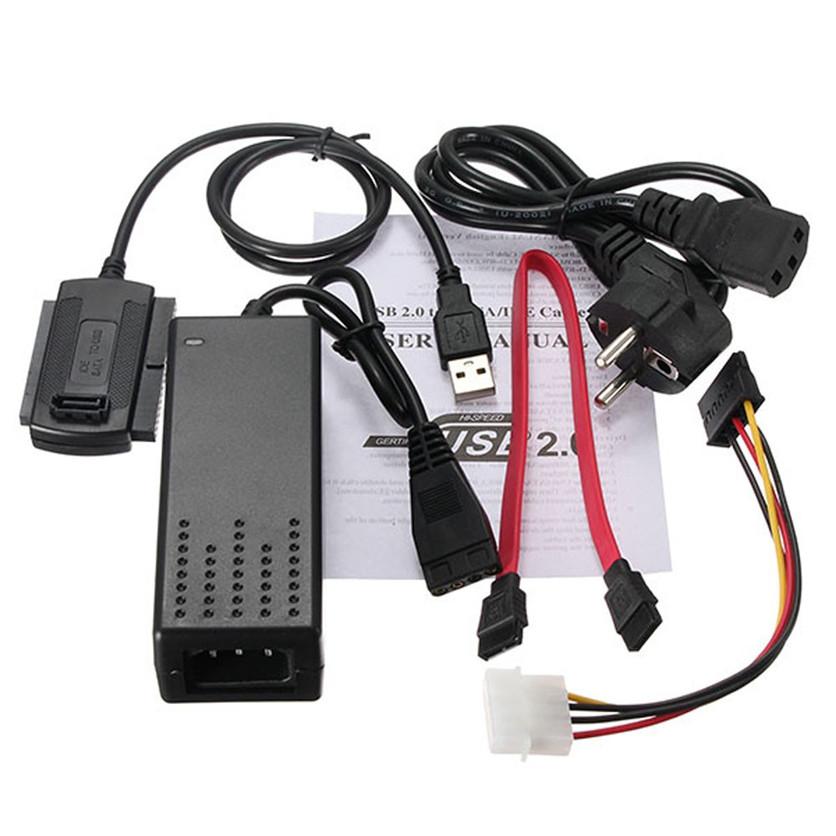 כבל ממיר USB2 ליציאת IDE+SATA -כבל טכנאי