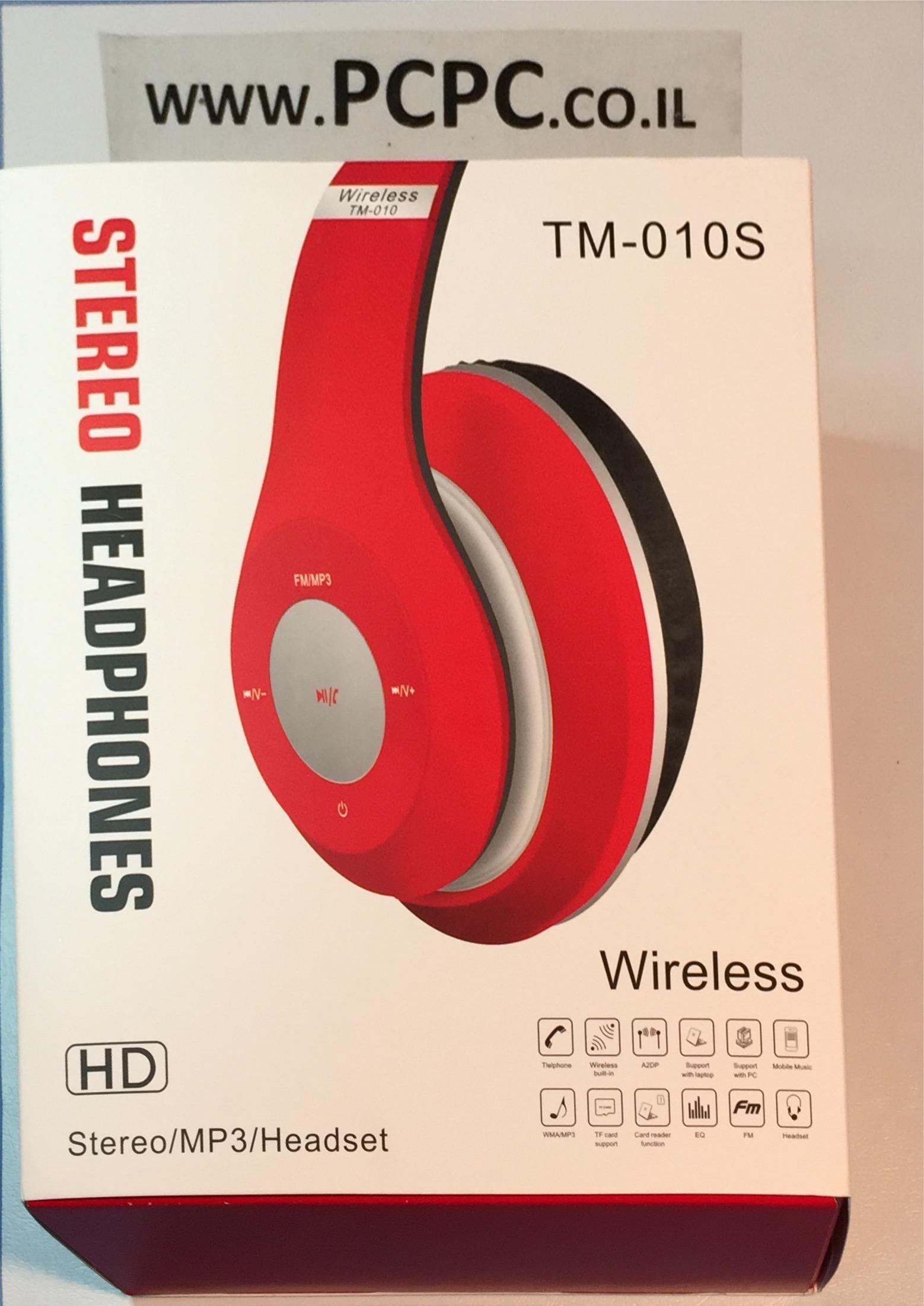 אוזניות בלוטוס לטלפון סלולרי TM--010