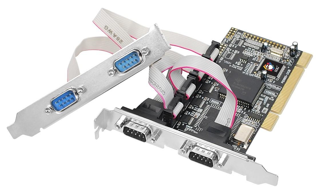 כרטיס    PCI TO SERIAL נותן   4יציאות 9 פין-RS 233