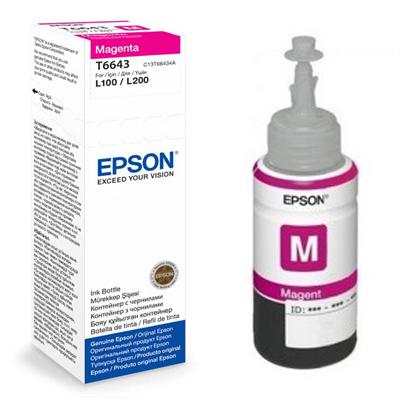 דיו מקורי EPSON T6643  אדום  בקבוק 70ML