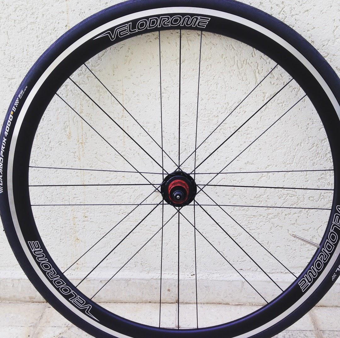 """זוג גלגלי אלומיניום קלינצ'ר 36-36 ברוחב פנימי 20 מ""""מ, 1490 גרם!"""