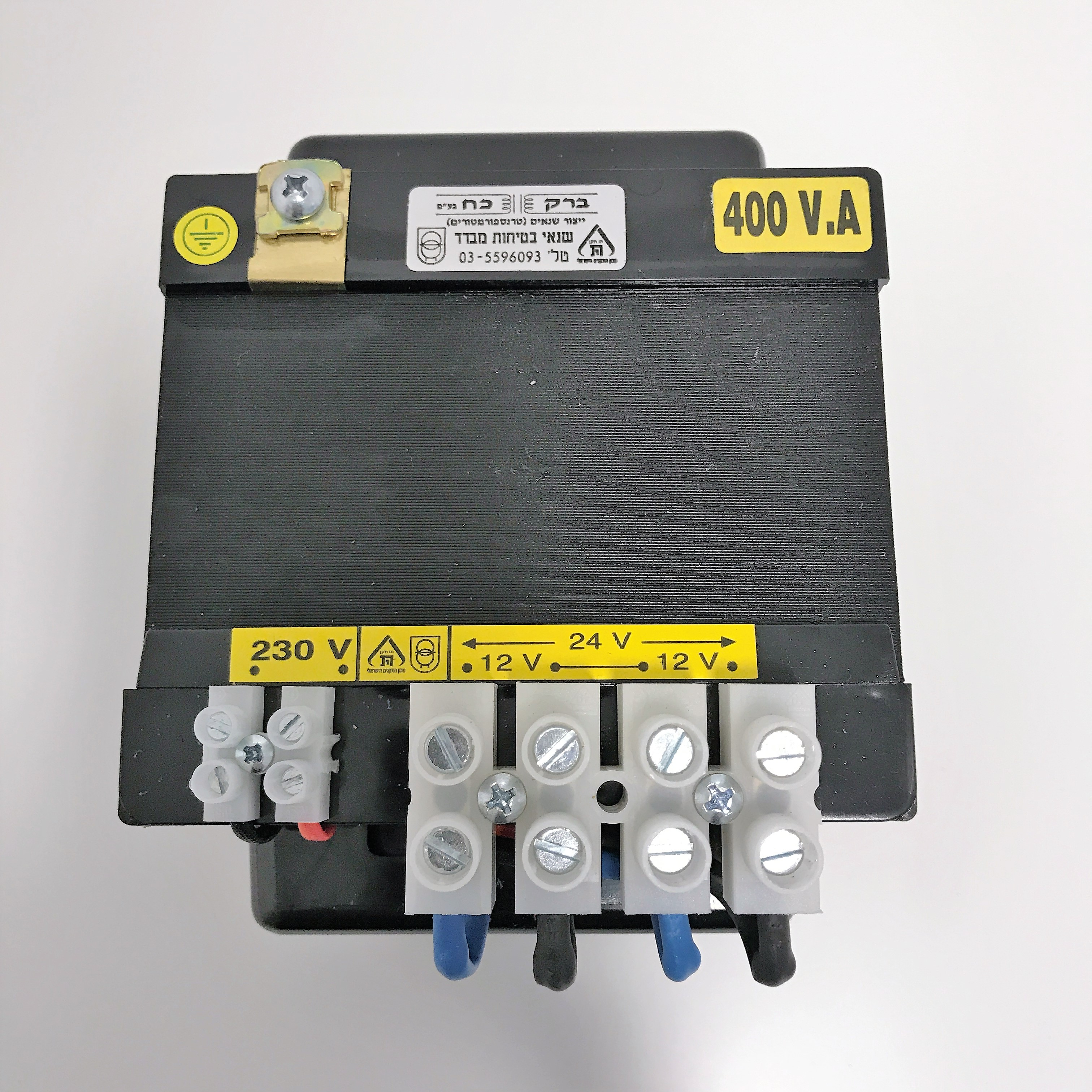 שנאי מבדל בהספק 400VA במתחים שונים