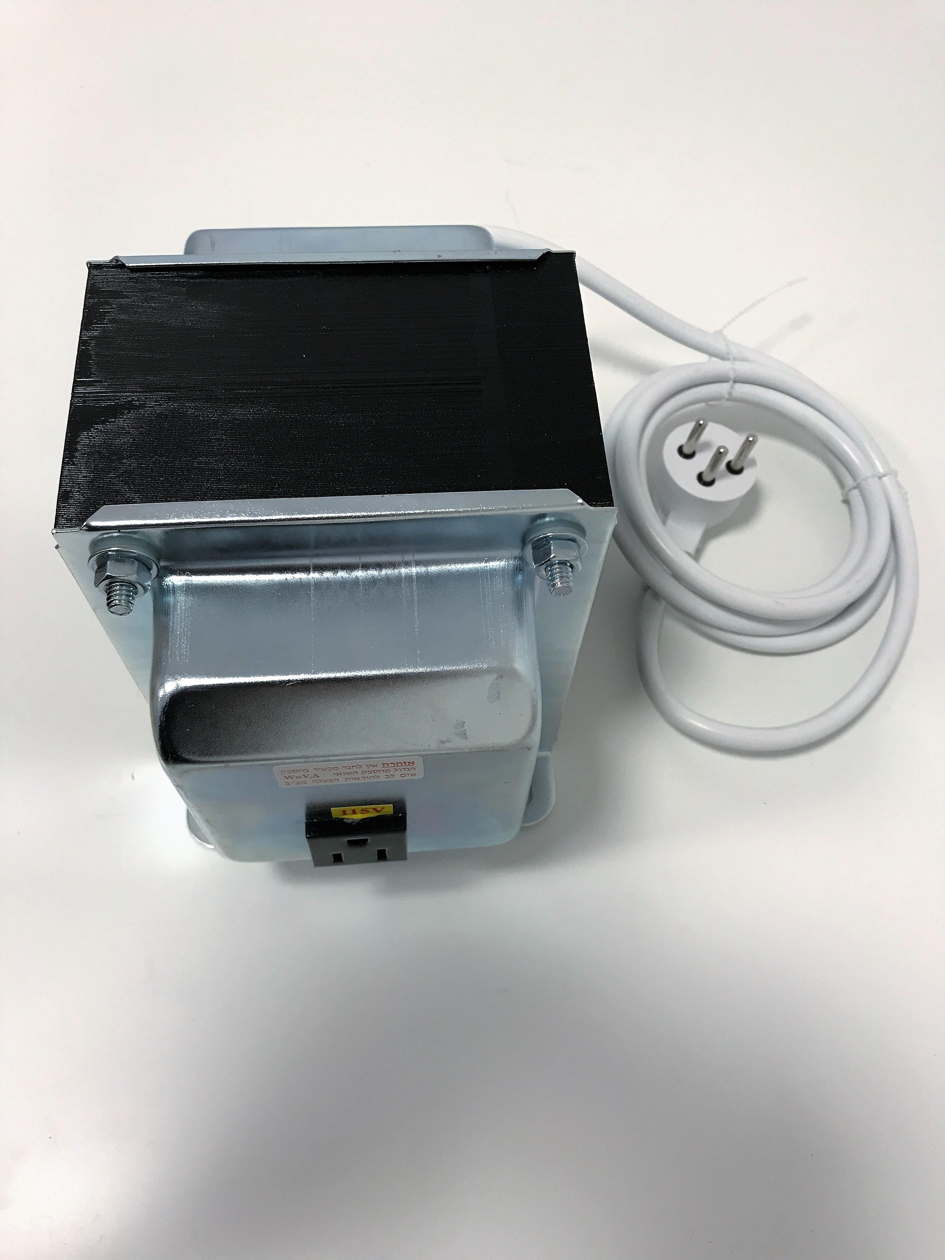 שנאי אוטוטרפו בהספק 1000VA (למקרר אמריקאי 105V)