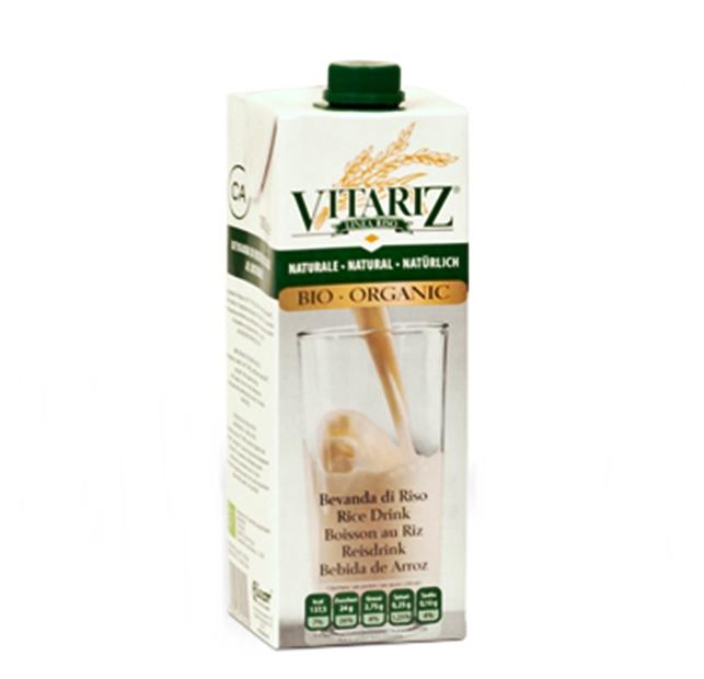 (8) משקה חלב אורז אורגני - VITARIZ  - ארגז 10 יחידות -  1 ליטר