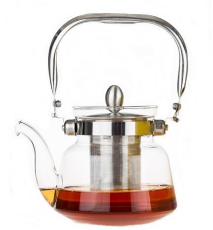 """קנקן לחליטת תה מזכוכית - 600 מ""""ל"""