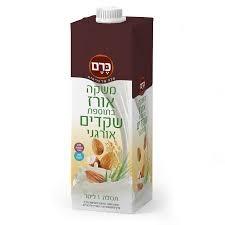 (93) משקה חלב אורז ושקדים- כרם - ארגז 10 יח' - 1 ליטר