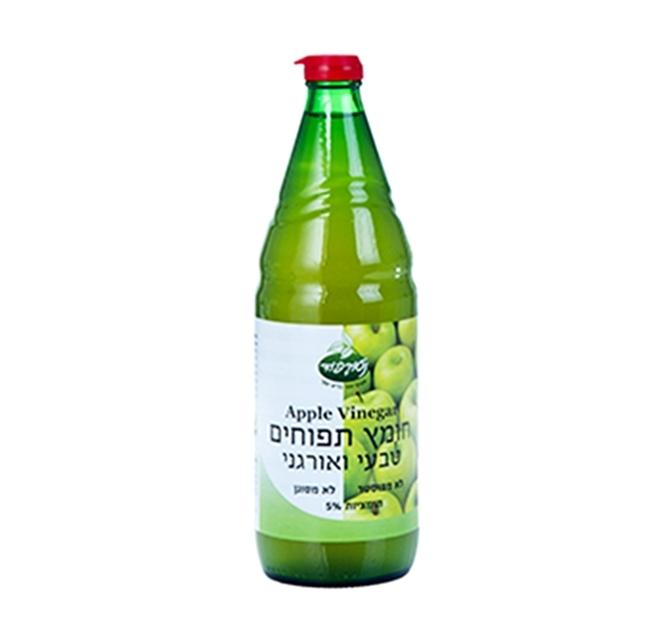 """חומץ תפוחים טבעי אורגני- 750 מ""""ל"""