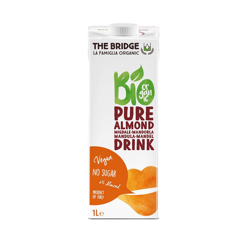 משקה שקדים אורגני ללא תוספת סוכר - THE BRIDGE - ארגז 12 יח' - ליטר 1