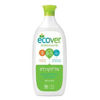 נוזל לניקוי כלים לימון אלוורה, אקובר - 1 ליטר