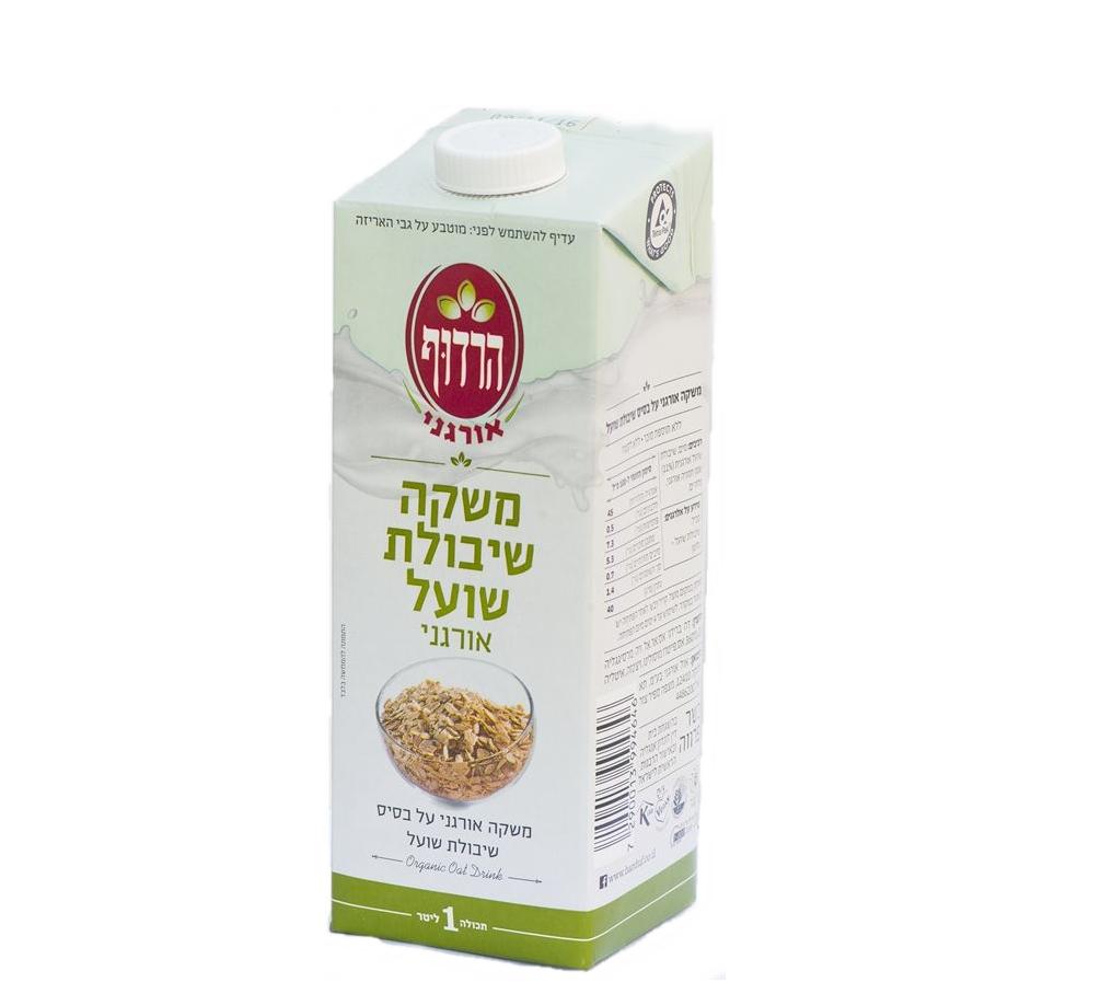 (92) משקה חלב שיבולת שועל אורגני - הרדוף - ארגז 10 יח' - 1 ליטר