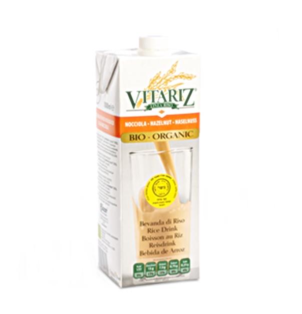 (91) משקה חלב אורז ואגוזי לוז אורגני - VITARIZ  - ארגז 10 יח' - 1 ליטר