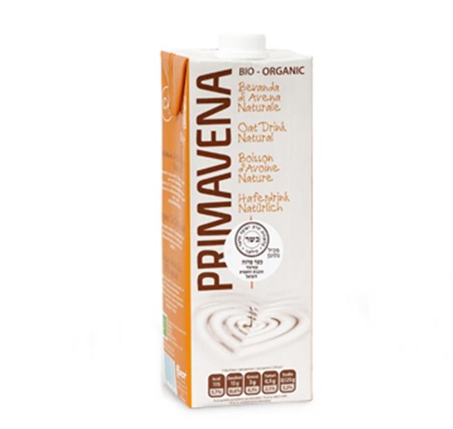 (92) משקה חלב שיבולת שועל אורגני - PRUMAVENE - ארגז 10 יח' - 1 ליטר
